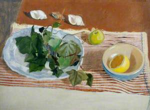 Still Life with Ivy and a Lemon