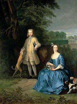 Master Edward and Miss Mary Macro, the Children of the Reverend Dr Cox Macro
