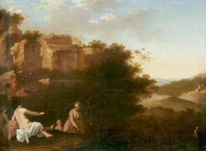 Nymphs Bathing in a Southern Landscape