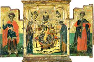 Icon with Deesis and Saints