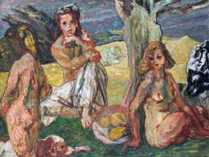 Three Nudes in a Landscape