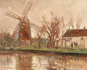 Windmill on River Bank