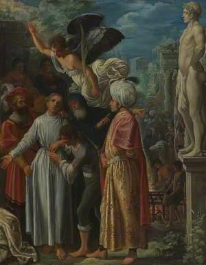Saint Lawrence prepared for Martyrdom