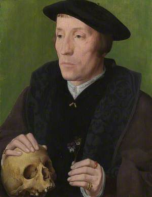 A Man with a Pansy and a Skull