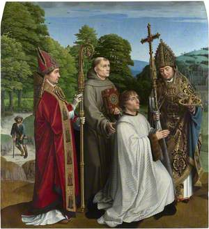 Canon Bernardijn Salviati and Three Saints
