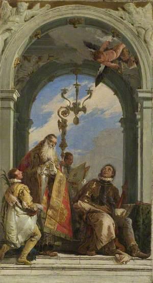 Saints Maximus and Oswald (?)