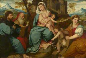 The Madonna and Child with Saints James the Greater, Jerome, the Infant Baptist and Catherine of Alexandria