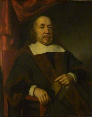 Portrait of an Elderly Man in a Black Robe