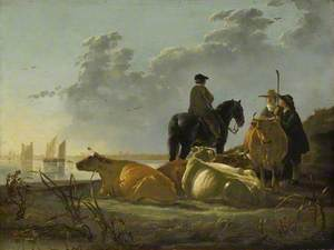 Peasants and Cattle by the River Merwede