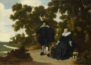 A Family Group (Jan van Hensbeeck and his Wife, Maria Koeck, and a Child ?)