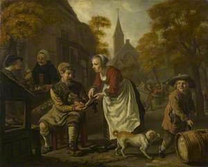 A Village Scene with a Cobbler