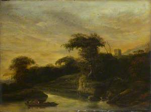 A Landscape with a River at the Foot of a Hill