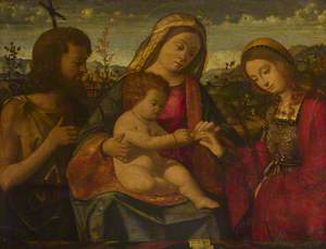 The Virgin and Child with Saints John the Baptist and Catherine