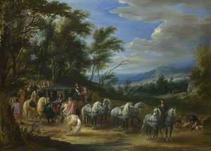 Philippe-François d'Arenberg saluted by the Leader of a Troop of Horsemen