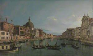 Venice: The Upper Reaches of the Grand Canal with S. Simeone Piccolo