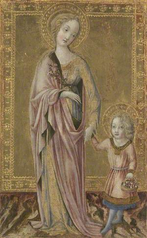 Saint Dorothy and the Infant Christ