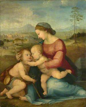 The Madonna and Child with Saint John