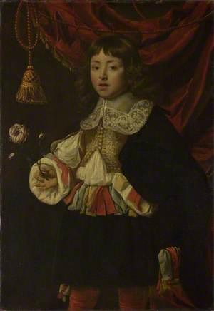 Portrait of a Boy holding a Rose