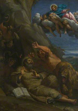 Christ appearing to Saint Anthony Abbot during his Temptation