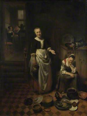 Interior with a Sleeping Maid and her Mistress ('The Idle Servant')