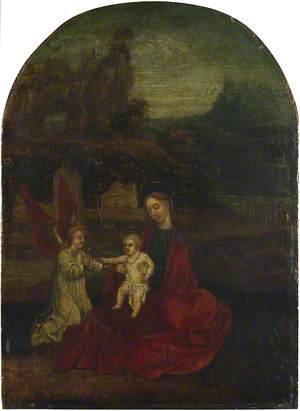 The Virgin and Child with an Angel in a Landscape