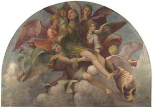 Saint Mary Magdalene borne by Angels