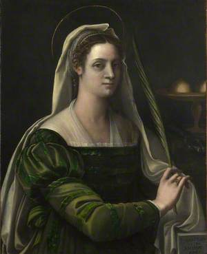 Portrait of a Lady with the Attributes of Saint Agatha