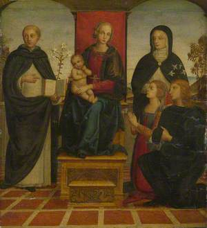 The Virgin and Child with Saints Dominic and Catherine of Siena, and Two Donors