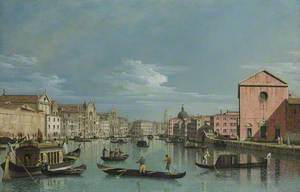 Venice: Upper Reaches of the Grand Canal facing Santa Croce