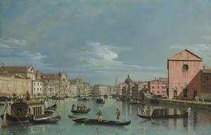 Venice: Upper Reaches of the Grand Canal facing Santa Croce