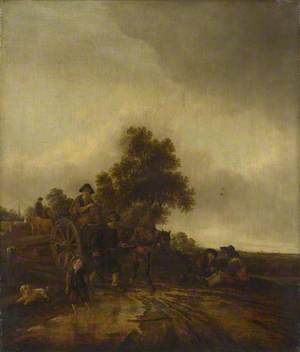 A Landscape with Peasants and a Cart