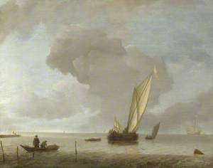 A Small Dutch Vessel before a Light Breeze