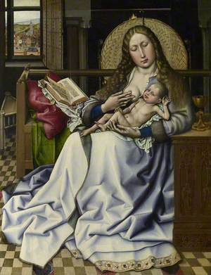 The Virgin and Child before a Firescreen