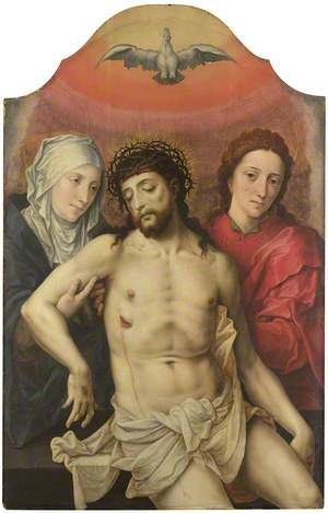 The Dead Christ supported by the Virgin and Saint John