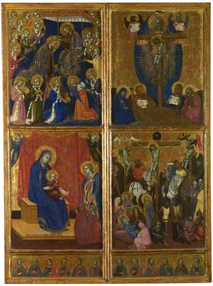 The Coronation of the Virgin; The Trinity; The Virgin and Child; The Crucifixion