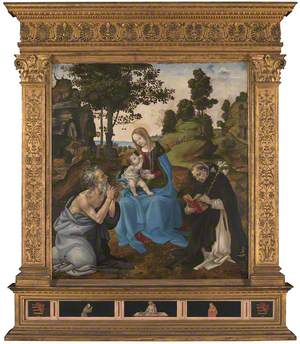 The Virgin and Child with Saints Jerome and Dominic