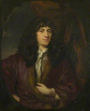 Portrait of a Man in a Black Wig