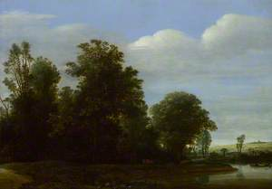 A Landscape with a River by a Wood