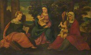 The Madonna and Child with Saints John the Baptist, Elizabeth and Catherine of Alexandria