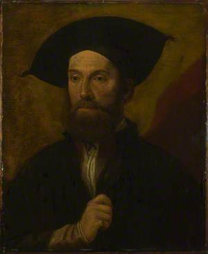 Portrait of a Man in a Large Black Hat