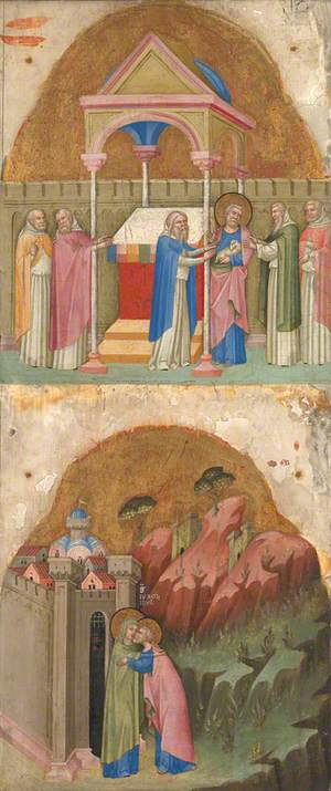 Saint Joachim's Offering rejected and The Meeting at the Golden Gate