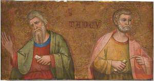 Two Apostles: Fragment of Predella