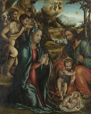 The Nativity with the Infant Baptist and Shepherds