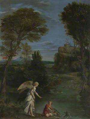Landscape with Tobias laying hold of the Fish