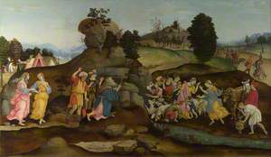 Moses brings forth Water out of the Rock