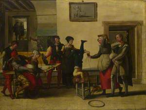 Itinerant Entertainers in a Brothel