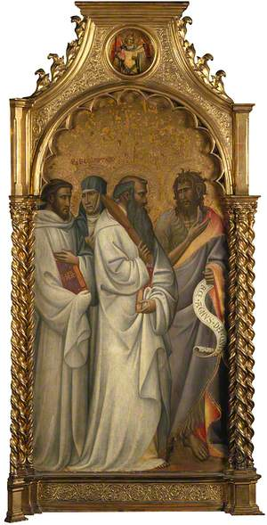 Saints Bernard, Scholastica, Benedict and John the Baptist: Main Tier Left Panel