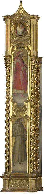 An Unknown Saint, Saint Cosmas and Saint Francis: Left Pilaster