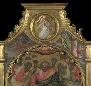 The Descent into Limbo: Roundel above Centre Panel