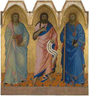 Saint John the Baptist with Saint John the Evangelist (?) and Saint James